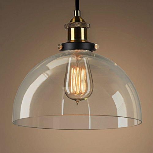 PureLumeTM Vintage Antik Clear-Sphere Retro Lampe mit Glas Glocke und Nostalgie 40W Glühbirne