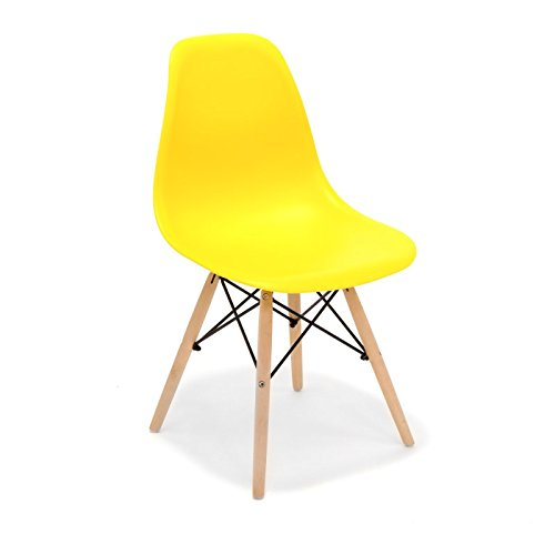 Stuhl TOWER WOOD PP Replica Eames, Qualität und-Holz Buche gelb