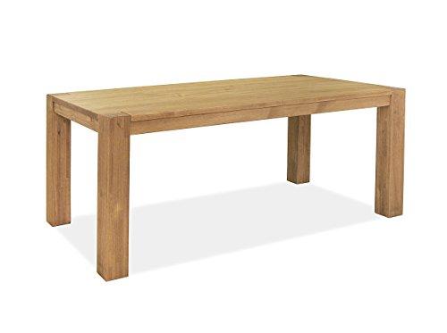 Esstisch ,,Rio Bonito,, 180x90cm, Pinie Massivholz, geölt und gewachst, Tisch Farbton Honig hell, Optional: passende Bänke 140 oder 160x38cm und Ansteckplatten 50x90cm