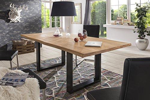 Esstisch Wildeiche Massivholztisch Tisch Baumkante Eiche Esszimmer Neu 180x100 200x100 220x100