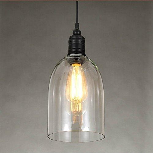 Industrielle Vintage LED Pendelleuchte Hängeleuchte Industrial Decke Glas Deckenbeleuchtung Restaurant U Form 1 Light E27 Retro Design Hängelampe Beleuchtung Leuchte Innenleuchte Esszimmerlampe Bar