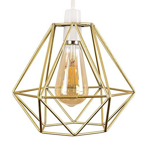 MiniSun – Schöner und metallischer Lampenschirm in Gestalt von einem Käfig im Retrostil – für Hänge- und Pendelleuchte
