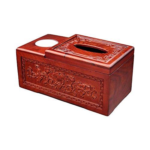 Pappbox ZQ Mahagoni Chinesische Tissue Box Mehrzweck Aufbewahrungsbox Hause Massivholz Esstisch Tablett Zahnstocher Box Set