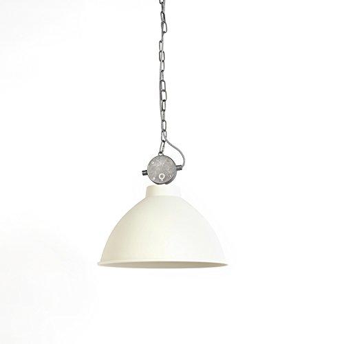 QAZQA Landhaus/Vintage/Rustikal Pendelleuchte/Pendellampe/Hängelampe/Lampe/Leuchte Anterio 38 weiß/Innenbeleuchtung/Wohnzimmer/Schlafzimmer/Küche Metall Rund LED geeignet E27 Max.