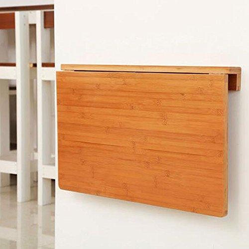 Tische Zr-Wandtisch Bambus-Wand-Drop-Blatt, Klappküche & Esstisch Schreibtisch, Massivholz Kinder 6 Größen -Platz Sparen