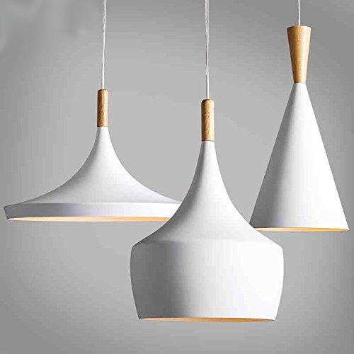icase4u® Retro lampe vintage Kronleuchter Pendelleuchten Moderne minimalistischen Stil nordischen Stil Weiße Holzinstrument Kronleuchter, 3PCS / PACK