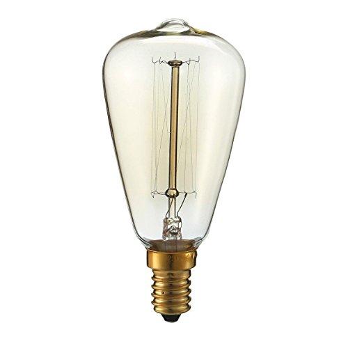 Edison Glühbirne Vintage ST64 E27 Retro Glühlampe 40W,220V-230V, Warmweiß, Industriel Design für jeder Nostalgie Raum