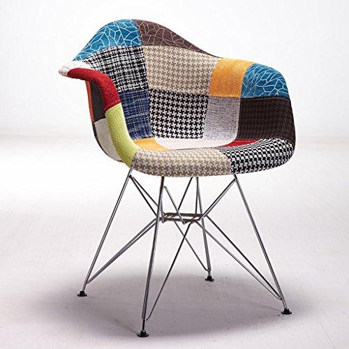 PLL Nordischer Art-Stuhl-Metallmoderner minimalistischer speisender Stuhl-Retro- Stuhl-Kaffee-Stuhl