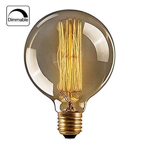 Retro Glühbirne Dimmbar, Edison Vintage MasterGlobe Glühbirne Ideal für Nostalgie und Antike Beleuchtung