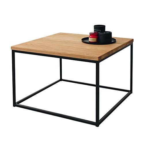 Das Original-BestLoft® Eiche Metall Couchtisch Beistelltisch Industiedesign loft Vintage Sofatisch massiv Holz