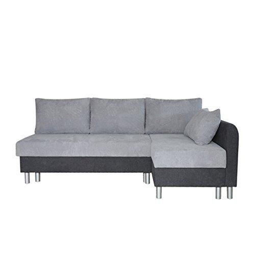 Ecksofa Malta! Sofa Eckcouch Couch! mit Schlaffunktion und 2 Bettkasten! L-Form Schlafsofa, Farbauswahl, Velour, Bettsofa (Seite: Rechts, Soro 97 + Dot 90)
