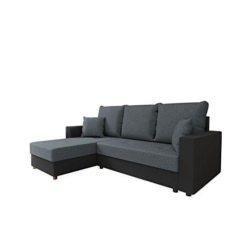 Ecksofa Picanto Bris mit Schlaffunktion und Bettkasten, Technologie Cleanaboo, Schwerentflammbar, Ottomane Universal, Eckcouch Couchgarnitur Wohnlandschaft Sofa Couch (Soft 011 + Bristol 2446)
