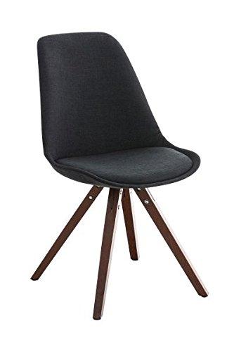 Esszimmerstuhl, Küchenstuhl, Lehnenstuhl, Sitzgelegenheiten, Besucherstuhl, Stuhl, Wartezimmerstuhl, Wohnzimmerstuhl Stoff walnuss schwarz #PeglegS