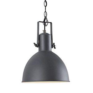 Design Hängelampe FACTORY II grau weiß 40 cm Industrielampe E27 Hängeleuchte Industrie Pendelleuchte Pendellampe