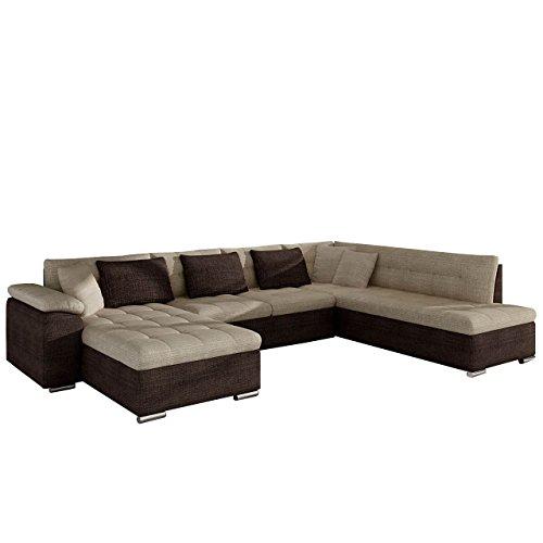Mirjan24 Eckcouch Ecksofa Niko Bis! Design Sofa Couch! mit Schlaffunktion und Bettkasten! U-Sofa Große Farbauswahl! Wohnlandschaft vom Hersteller