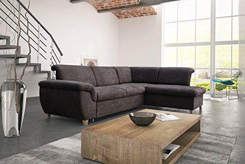 mb-moebel Ecksofa Eckcouch mit Bettkasten Sofa Couch L-Form Polsterecke Andria