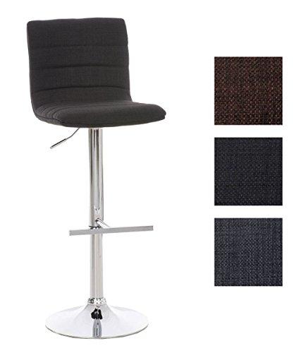 CLP Barhocker VALENZIA mit hochwertiger Polsterung und Stoffbezug I Höhenverstellbarer Barstuhl mit drehbarem Sitz I In verschiedenen Farben erhältlich