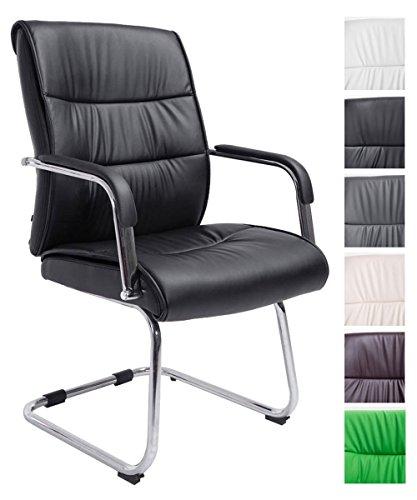 CLP Freischwingerstuhl SIEVERT mit Hochwertiger Polsterung und Kunstlederbezug | Konferenzstuhl mit Armlehne l In Verschiedenen Farben erhältlich