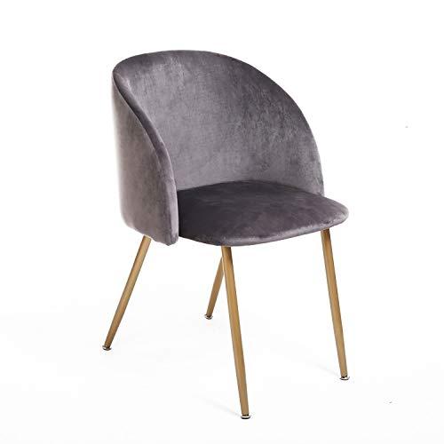 EGGREE Vintager Retro Sessel Polstersessel Samt Lounge Sessel Clubsessel Fernsehsessel Grün/Grau/Rosa/Blau/Violett