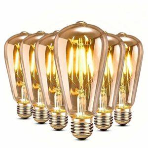 Genmer E27 4W Edison Vintage Glühbirne LED Lampe Glühbirne, Amber Glas