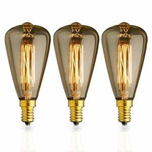 KJLARS Vintage Birne Edison Glühlampe Glühbirne E14 40W ST48 warmweiß Filament Fadenlampe Für Retro Nostalgie Industry Style Leuchtmittel