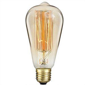 Premium S&L Edison Vintage Glühbirne mit E27 Fassung - wunderschönes warmes Licht mit dieser dimmbaren Retro Glühlampe in 25 Watt - perfekt zur Deko