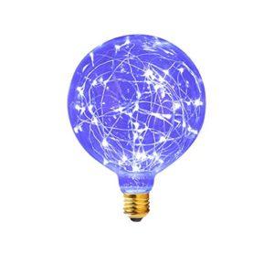 SUAVER LED E27 Edison Lampe G95 Vintage Lampe Glühlampe Lichterkette Filament Lampe,85-265V Deko Glühbirne für Haus Café Bar Laden (85-265V)