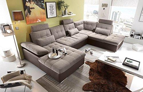 lifestyle4living Ecksofa, Sofaecke, Wohnlandschaft, Couch, U-Form, Couchgarnitur, Polsterecke, Sofacouch, Polstergarnitur, Sofa